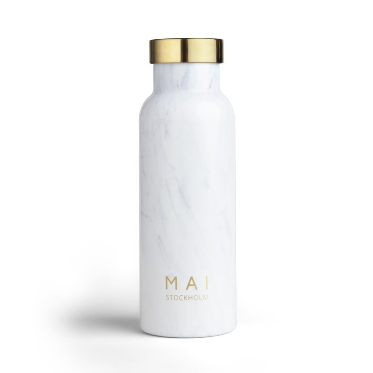 Vattenflaska marmor vit - MAI STOCKHOLM