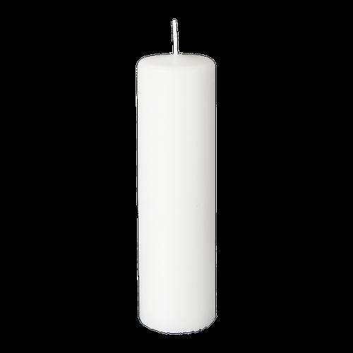 Blockljus vit 20 cm