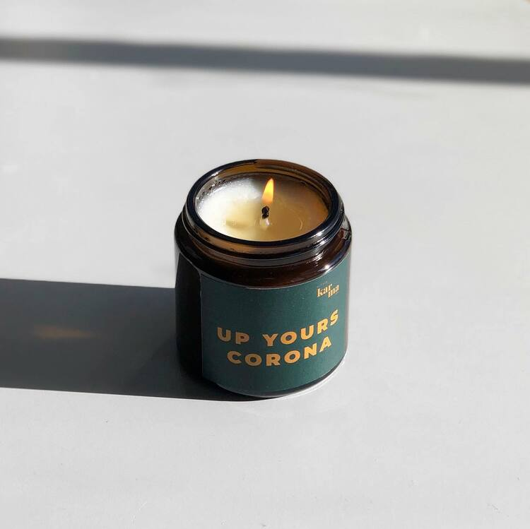 Doftljus Up yours grön-LITTLE KARMA