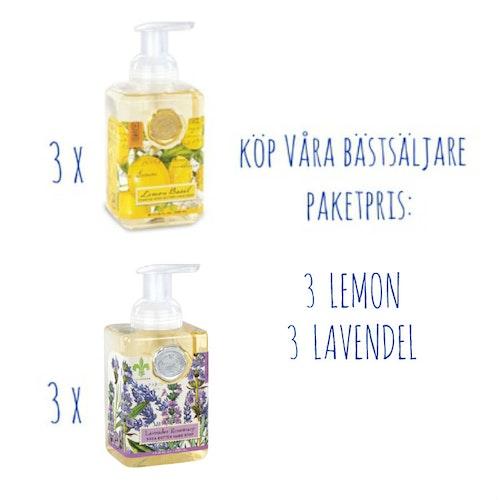 Skumtvål Lavendel & Lemon 6-pack- MICHEL DESIGN WORKS