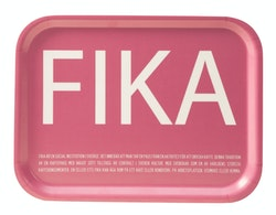 Bricka 27X20 Fika rosa- I LOVE DESIGN