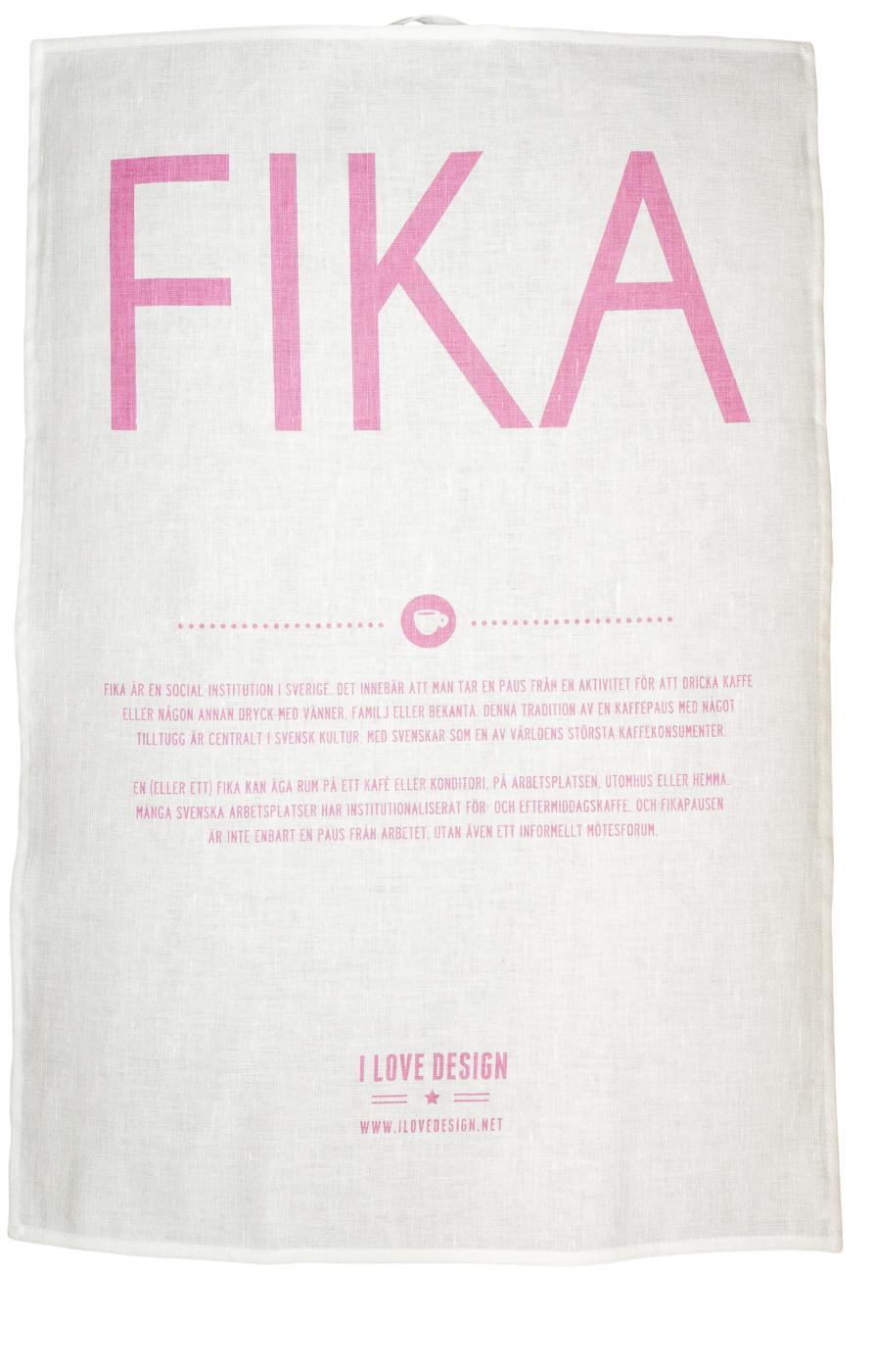 Kökshandduk rosa-FIKA
