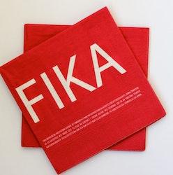 Servett röd-FIKA