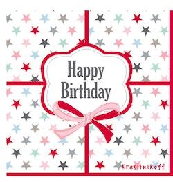 Servetter Happy Birthday-HAPPY