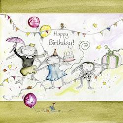 Kort ( stort) Happy Birthday