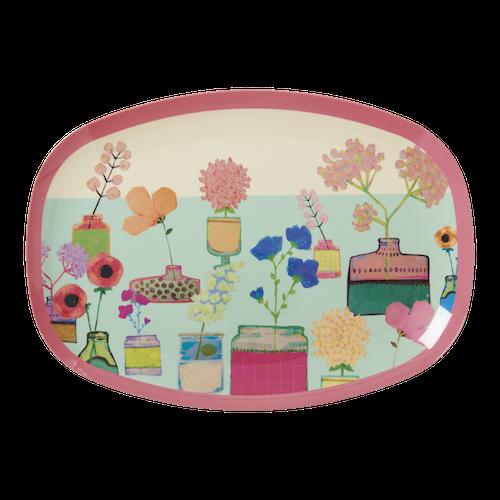 Tallrik vintage blommor-RICE