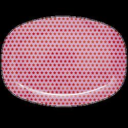 Tallrik rosa stjärnor-RICE