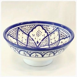 Skål 25 cm marockansk blå