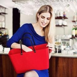 Hinza väska stor röd