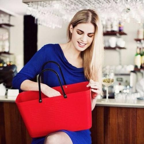 Väska stor röd HINZA