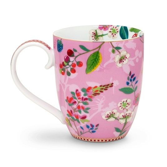 Mugg Hummingbirds XL rosa-PIP STUDIO