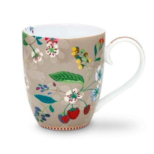 Mugg Hummingbirds XL khaki-PIP STUDIO
