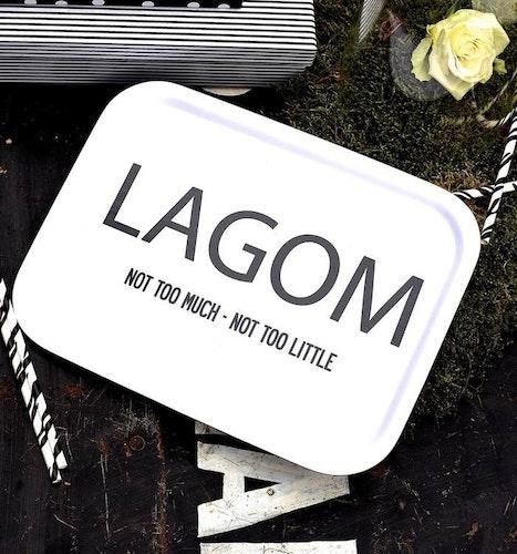 Bricka Lagom vit-I LOVE DESIGN