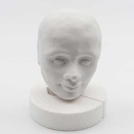Paverpol Robin. Gipshuvud och Ansikte i Gips Robin 9 cm