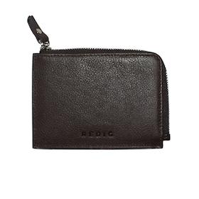 RFID plånbok i brunt läder - Kristina