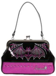 Sourpuss väska Batty Pinstripe Purse