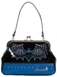 Sourpuss väska Batty Pinstripe Purse Blue