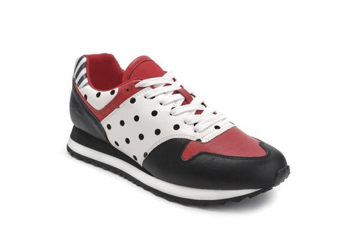 Serena Crusty Black/Red/Dots