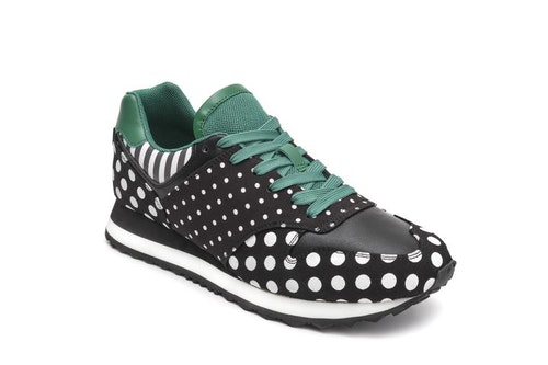 Serena Derby Black/Green/Dots
