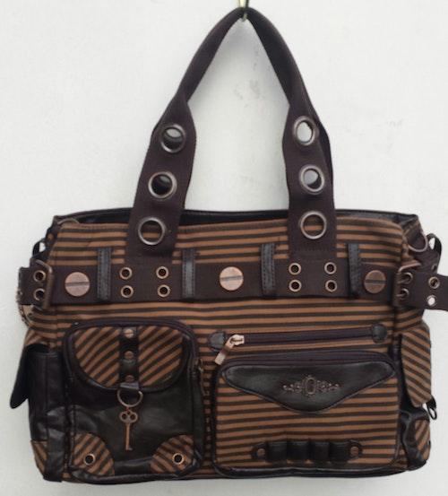 Banned väska brunrandig