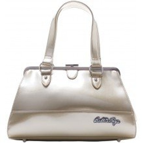 SOURPUSS BETTIE PAGE CENTERFOLD PURSE GOLD