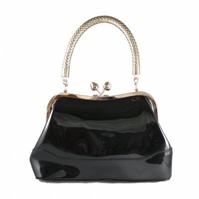 Collectif Connie Patent Bag Black