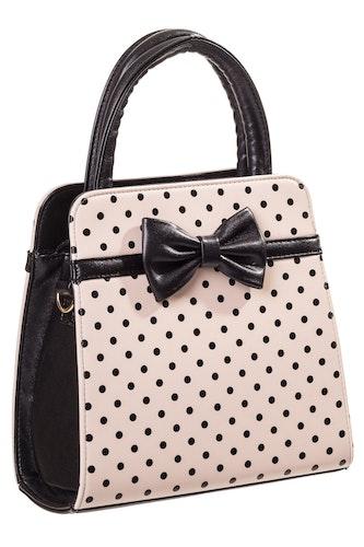Banned Retro väska prickig beige/svart