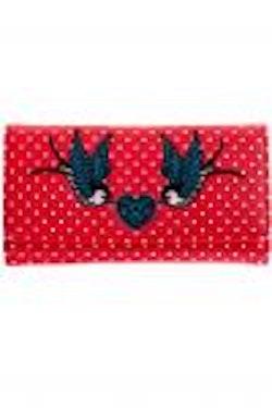 Banned plånbok prickig röd