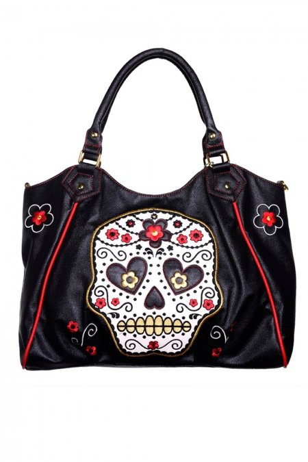 Banned väska Suger Skull Shoulder bag