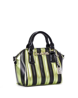Lux De Ville väska Mini Carneval Tote Green and Black Metallic