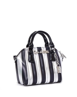 Lux De Ville väska Mini Carneval Tote Silver and Black Metallic