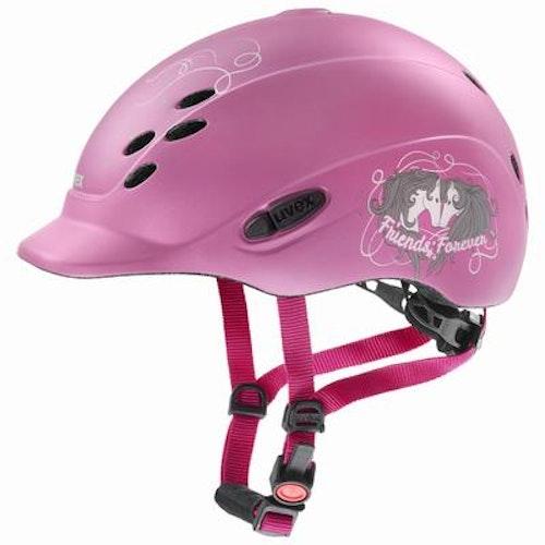 Ridhjälm barn onyxx friends II pink
