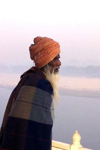 Print Indisk man med gul turban