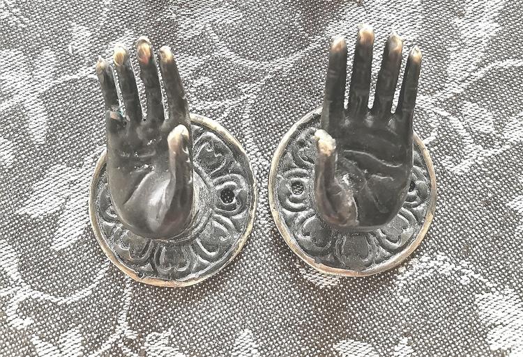 Hand Mudra grön (liten)