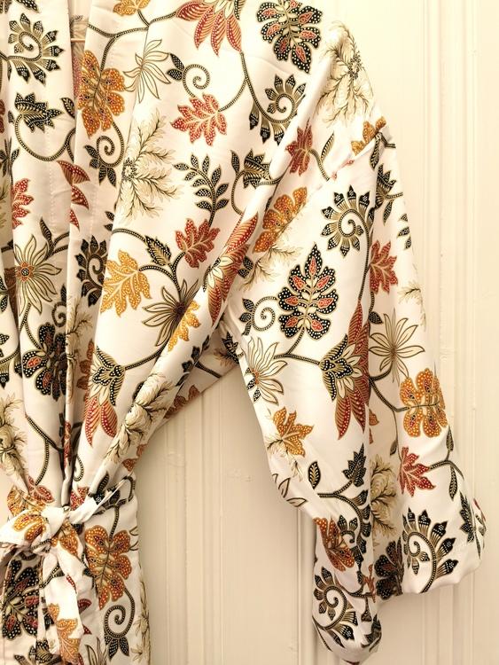 Kimono vit/guld
