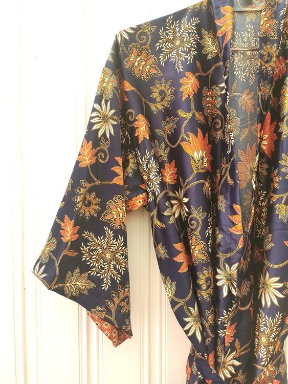 Kimono mörkblå