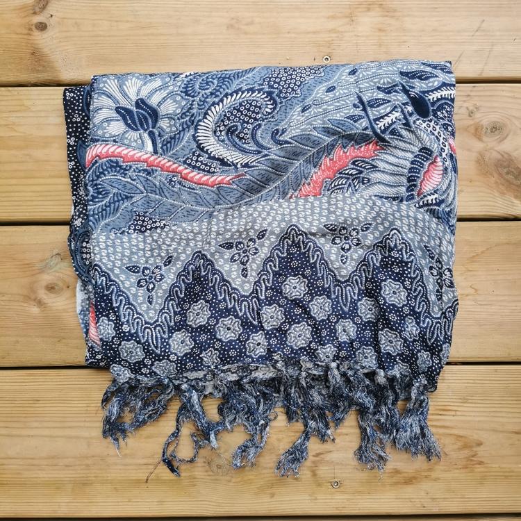 Sarong blågrå