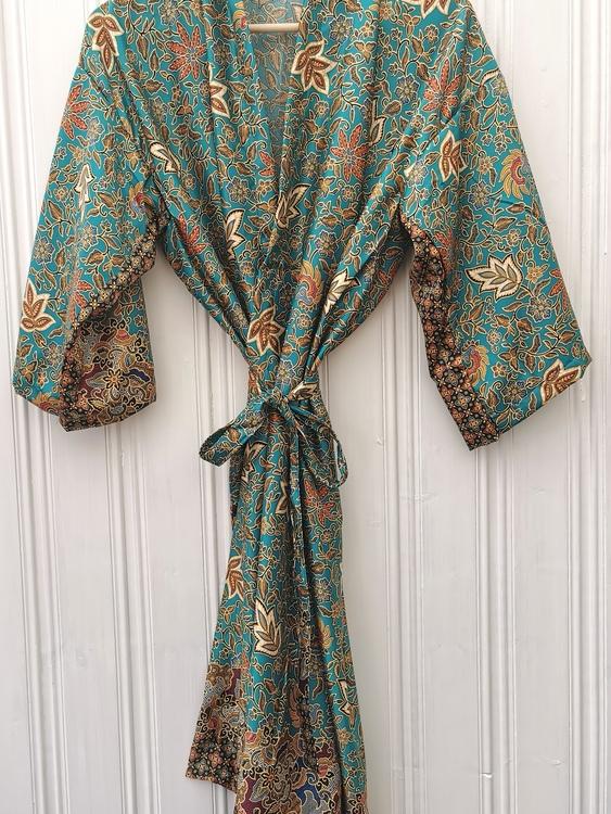 Kimono grönblå
