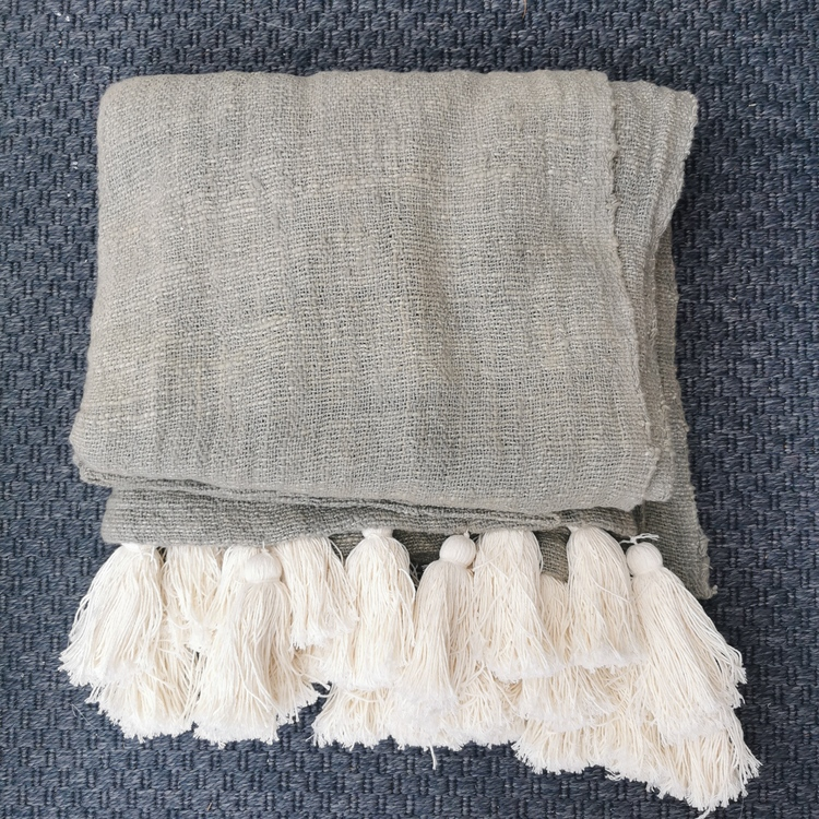 Filt/pläd Boddhana grå