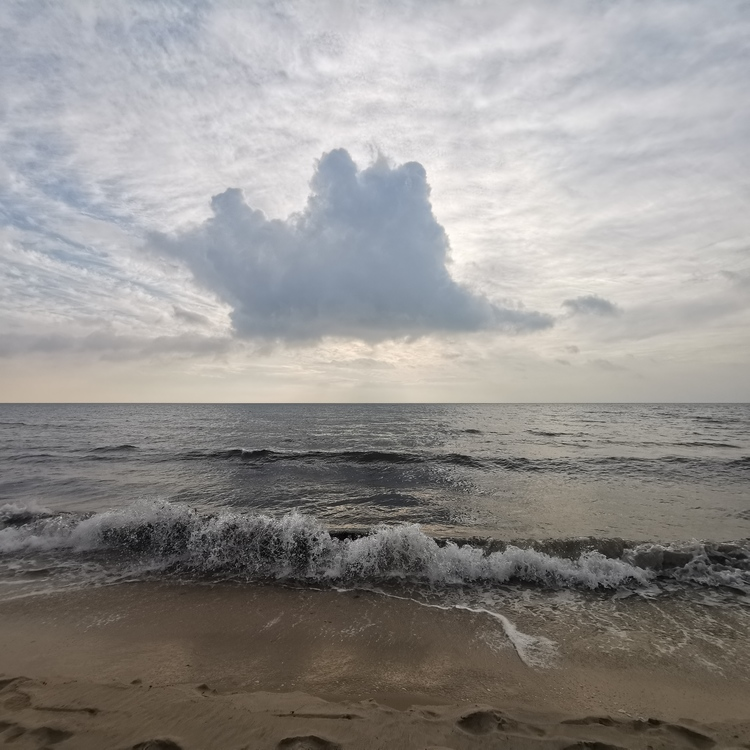 Print The cloud and the wave