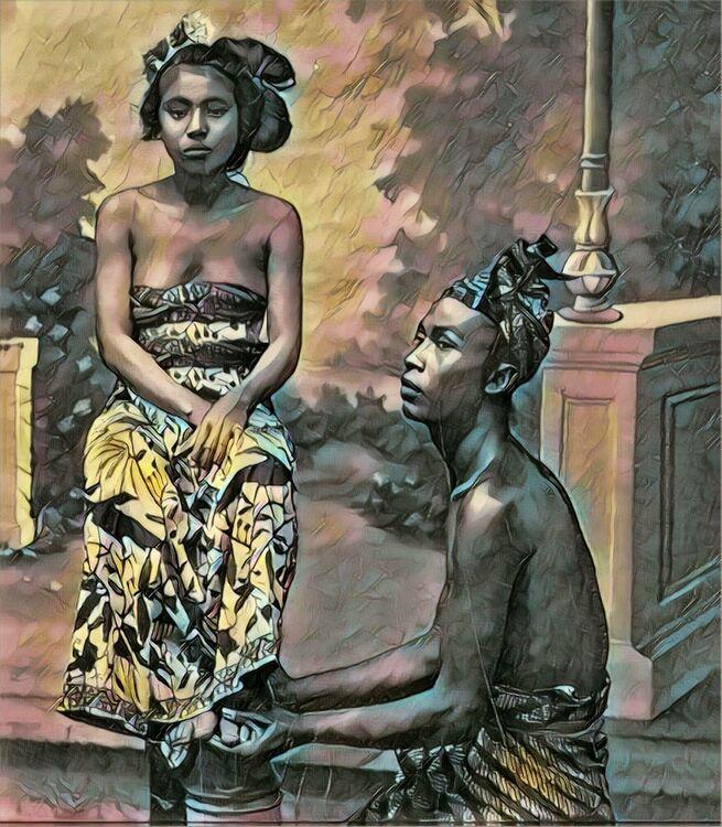Print Bali couple vintage