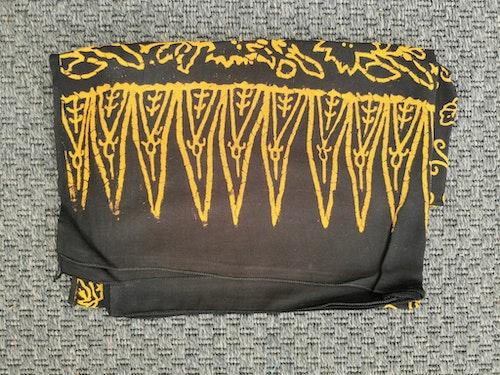 Sarong svart/gul