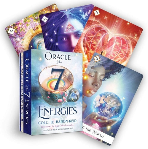 Oracle of the 7 energies, med guidebok på Engelska