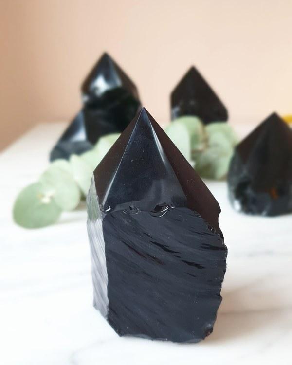 Svart Obsidian, spets, välj din favorit