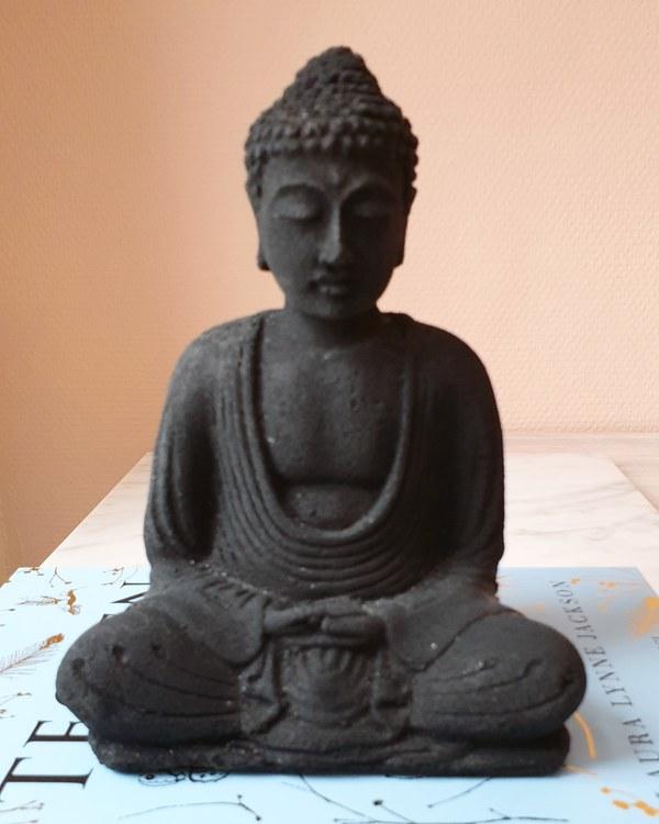 Buddha, 15cm svart