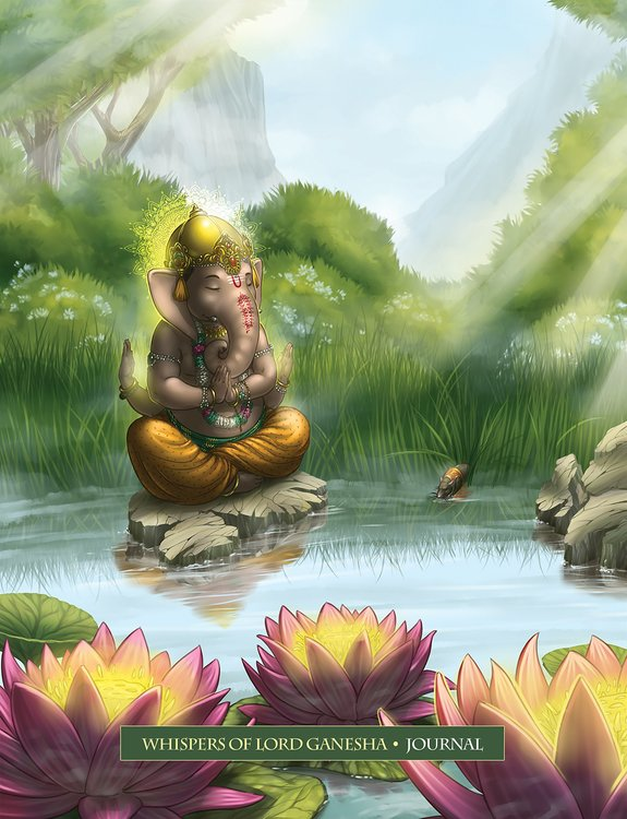Whispers of Lord Ganesha, Deluxe Journal, Angela Hartfield