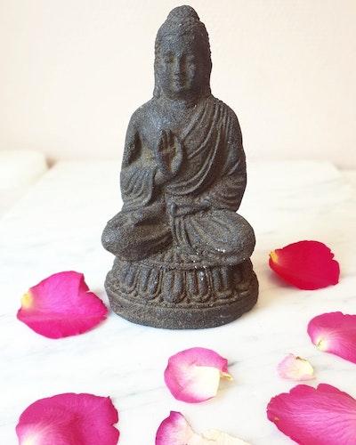 Buddha staty, 15cm, Brun