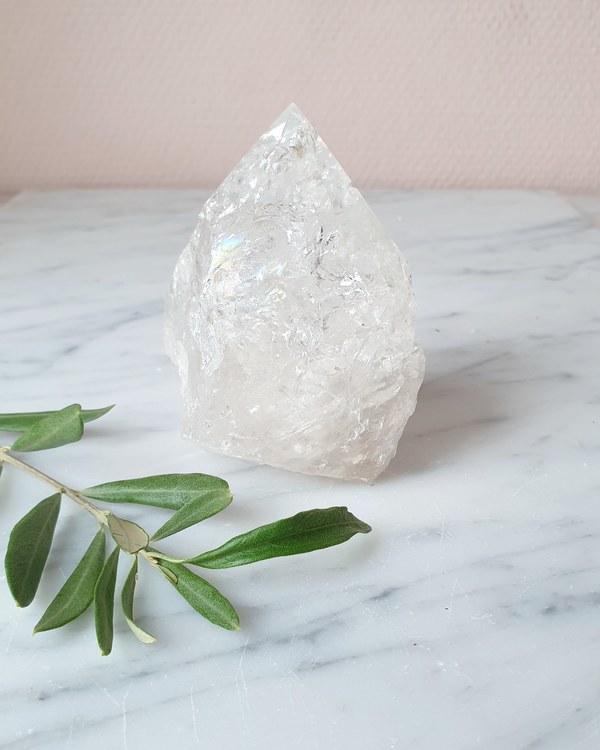 Bergkristall, semipolerade torn