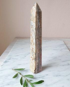 Rosa ametisttorn/obelisk, nr 5, ca 22.5cm