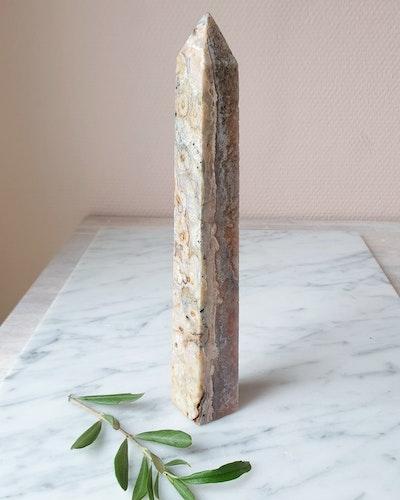 Rosa ametisttorn/obelisk, nr 5, 369 gram